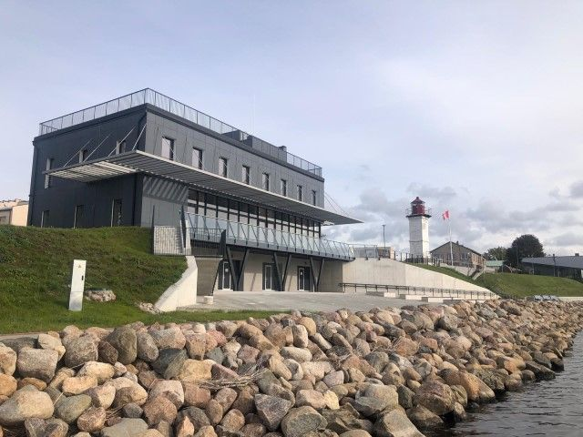 Visualization of the new building of the Yachting club, Ostas iela 4, Salacgriva, Latvia