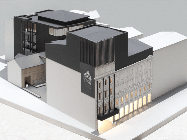 Visualization of the New Riga Theater building complex reconstruction