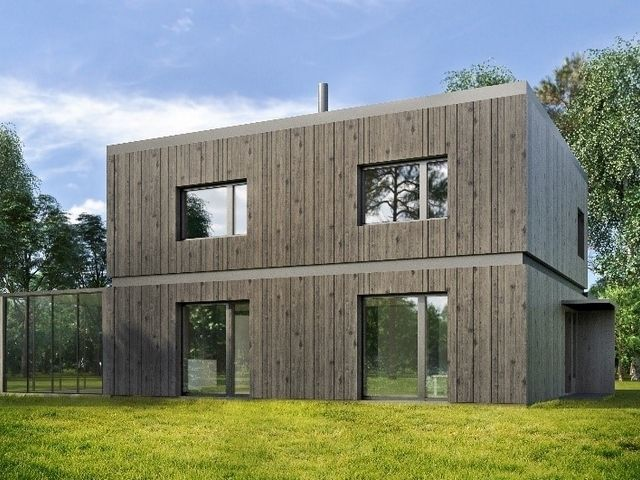Visualisation of a passive house, Adazi County, Latvia